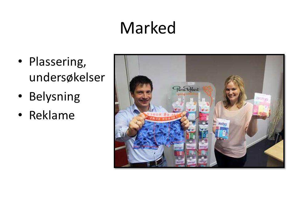 Marked Plassering, undersøkelser Belysning Reklame