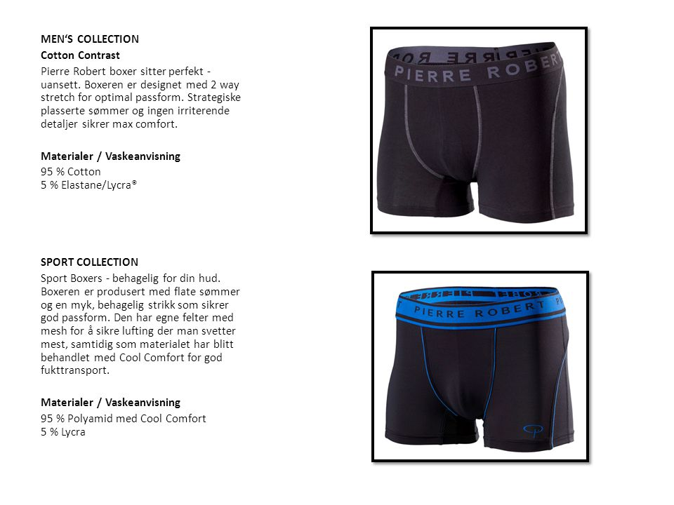 MEN'S COLLECTION Cotton Contrast Pierre Robert boxer sitter perfekt - uansett.