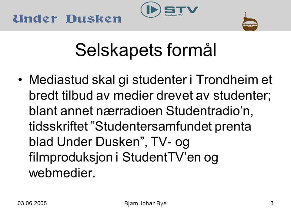 03.06.2005Bjørn Johan Bye14
