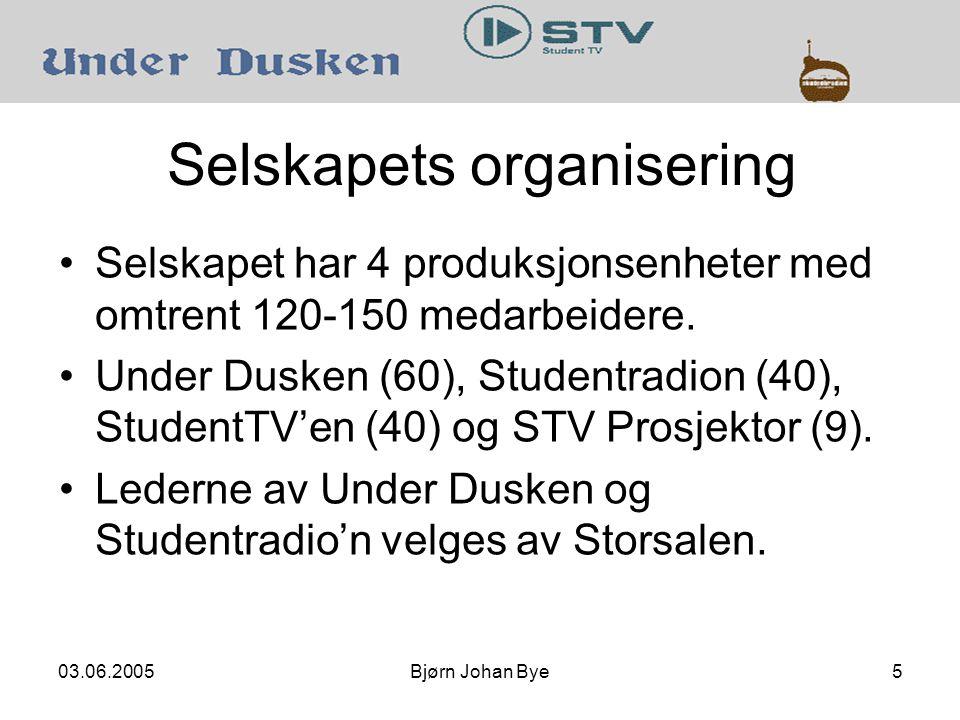 03.06.2005Bjørn Johan Bye5 Selskapets organisering Selskapet har 4 produksjonsenheter med omtrent 120-150 medarbeidere.