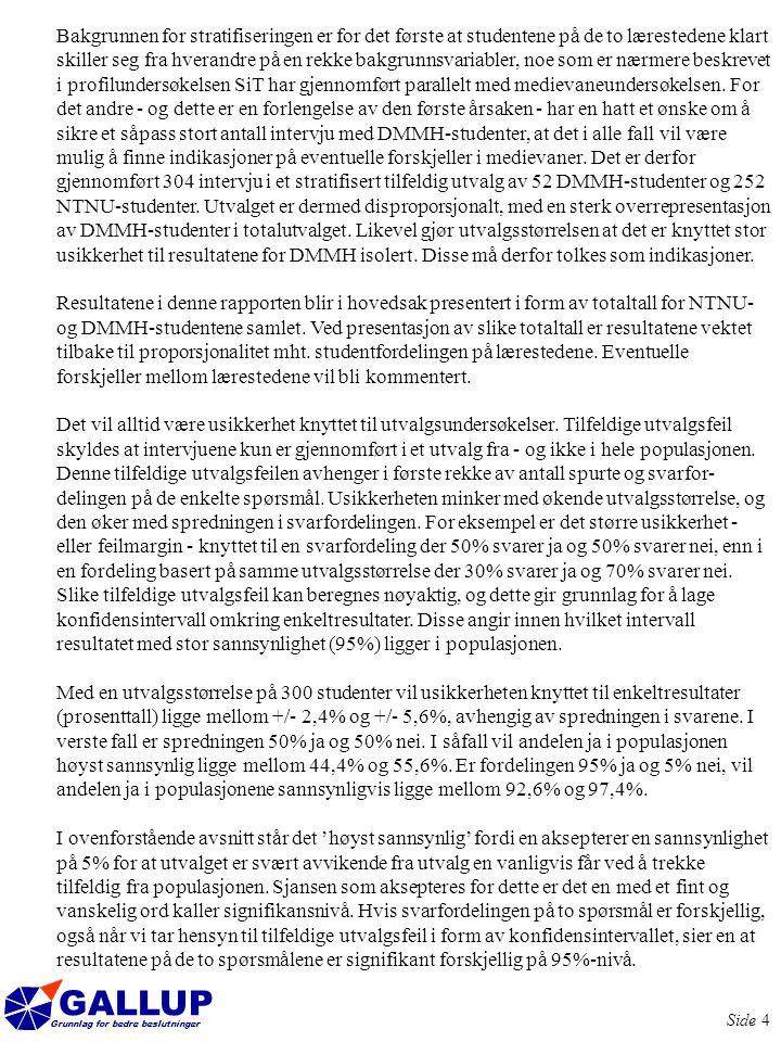 GALLUP Grunnlag for bedre beslutninger Side 25 87% av seerne mener at TV-Trøndelag er et troverdig informasjonsorgan Alle studentene ble bedt om å gi sin vurdering av kanalen, samt hvor troverdig de mener den er som informasjonsorgan.
