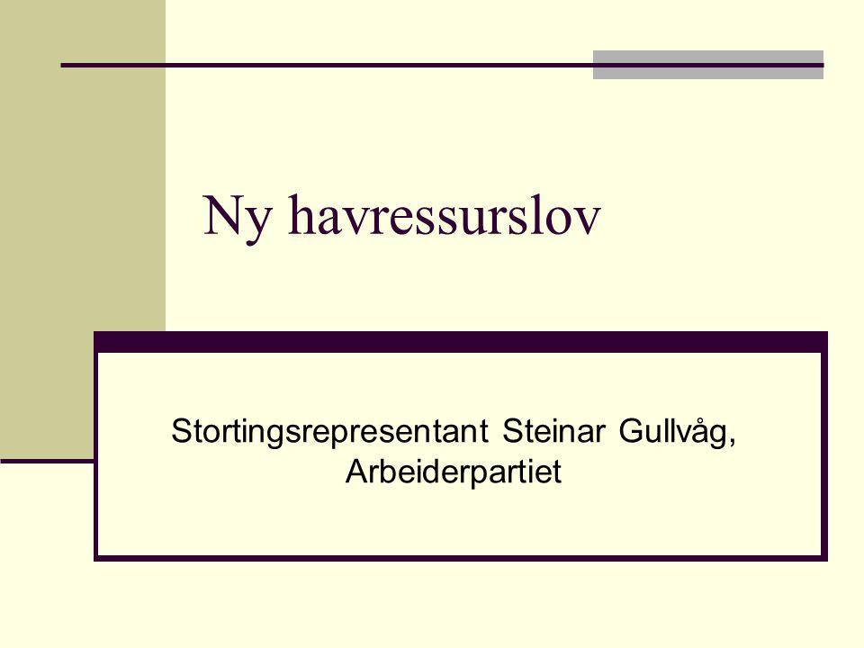 Ny havressurslov Stortingsrepresentant Steinar Gullvåg, Arbeiderpartiet