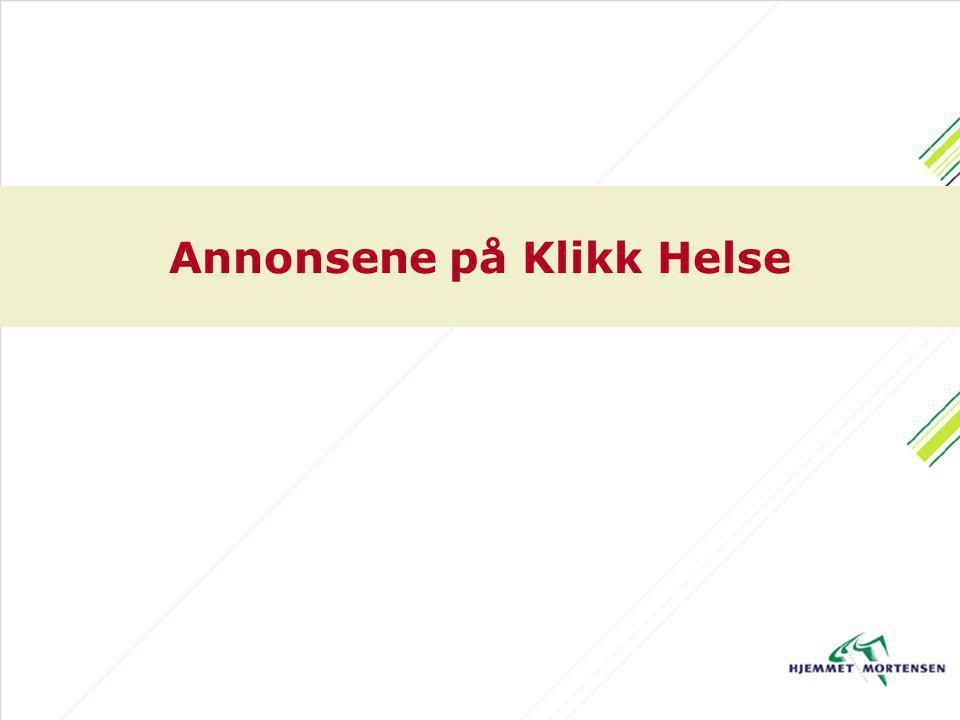 Annonsene på Klikk Helse