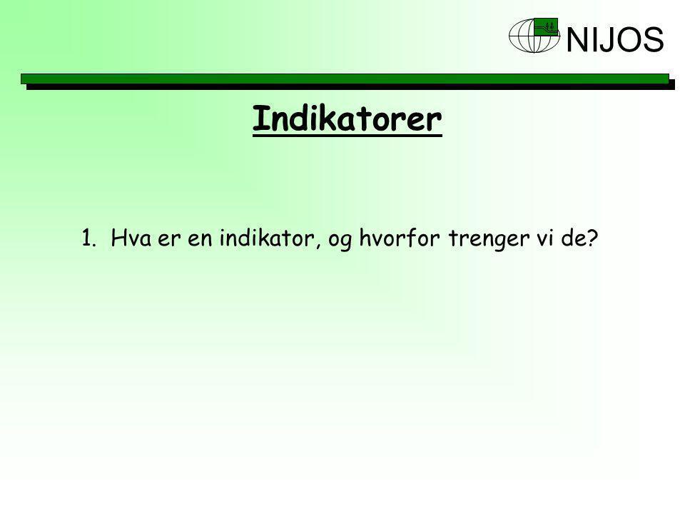 NIJOS Indikatorer 2.Referanseramme for indikatorer 3.