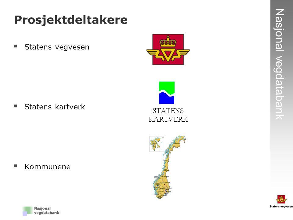 7 Nasjonal vegdatabank  Statens vegvesen  Statens kartverk  Kommunene Prosjektdeltakere