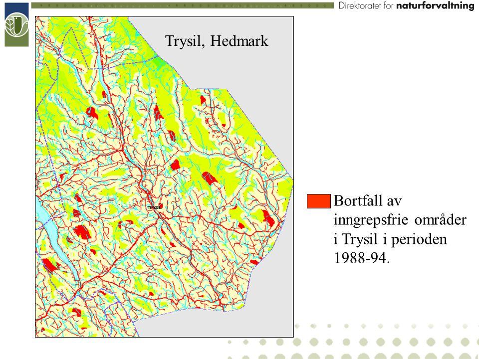Bortfall av inngrepsfrie områder i Trysil i perioden 1988-94. Trysil, Hedmark