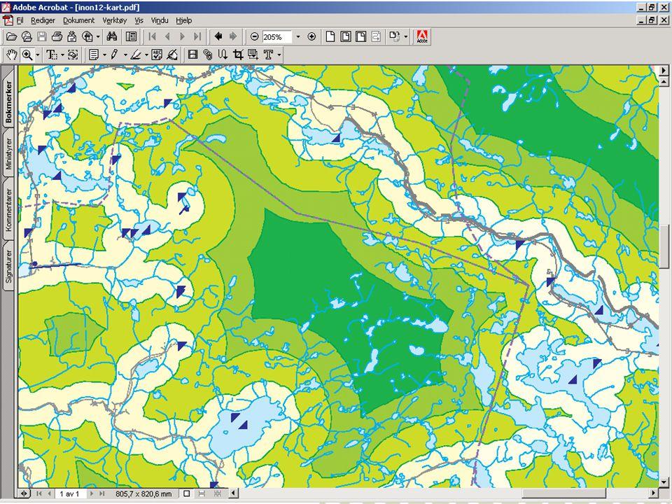 Ny kartlegging viser status per januar 2003 - ferdigstilles januar/februar 2004 www.dirnat.no/inon Takk for oppmerksomheten