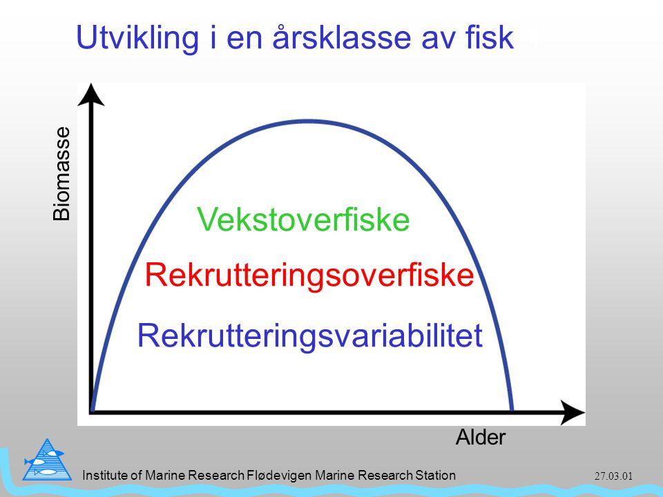 Institute of Marine Research Flødevigen Marine Research Station 27.03.01 Øyepålfangster Øyepållandinger