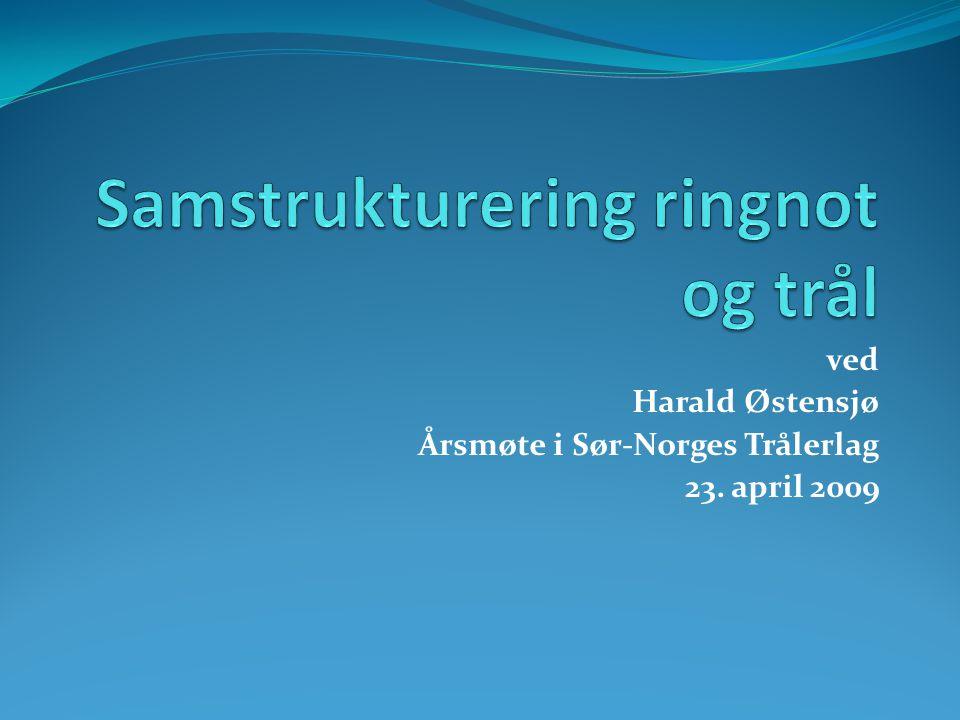 Om kvotetak  Gjenværende fartøy ringnotbåt,: Maksimalt 50 % av kvotetaket i trålgruppen.