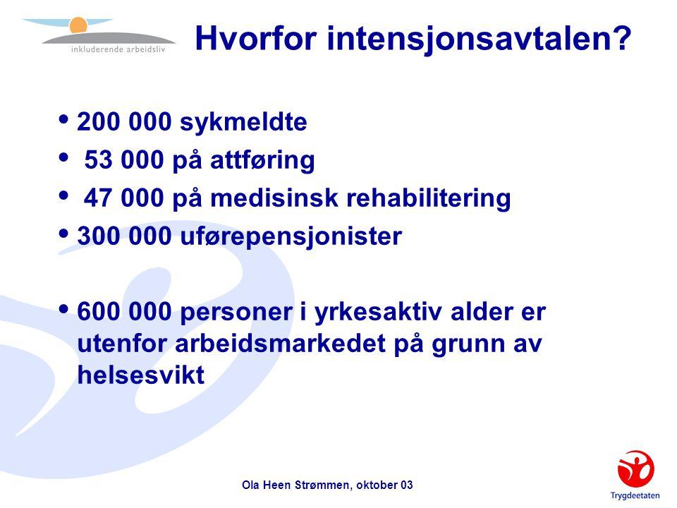 Ola Heen Strømmen, oktober 03 Det tar tid å innarbeide rutiner og få på plass god kultur og gode holdninger.