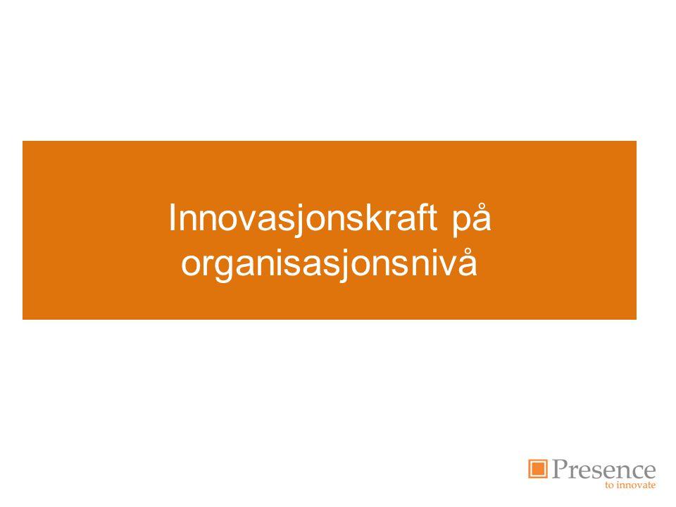 Innovasjonskraft på organisasjonsnivå