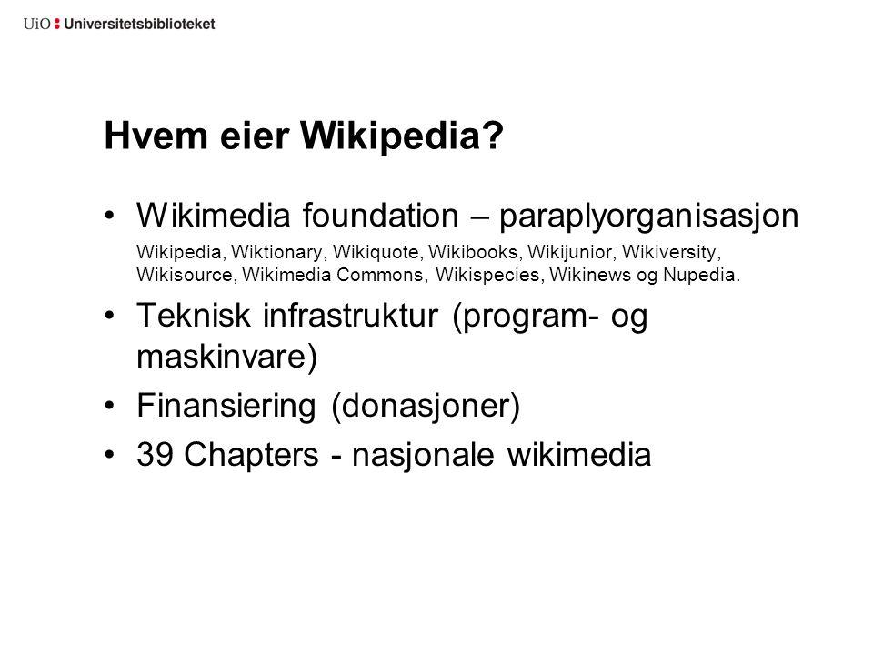 Wikimedia Norge: samisk, bokmål, nynorsk Wikimedia Tyskland, Sveits, Østerrike: tysk Chapterstrukturen er ikke uproblematisk Språk ≠ territorium