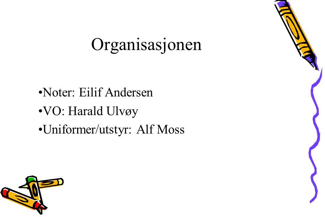 Noter: Eilif Andersen VO: Harald Ulvøy Uniformer/utstyr: Alf Moss Organisasjonen