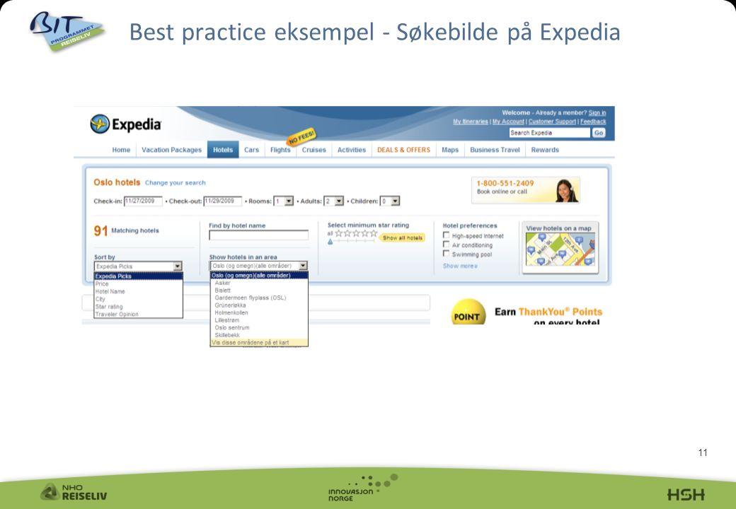 11 Best practice eksempel - Søkebilde på Expedia