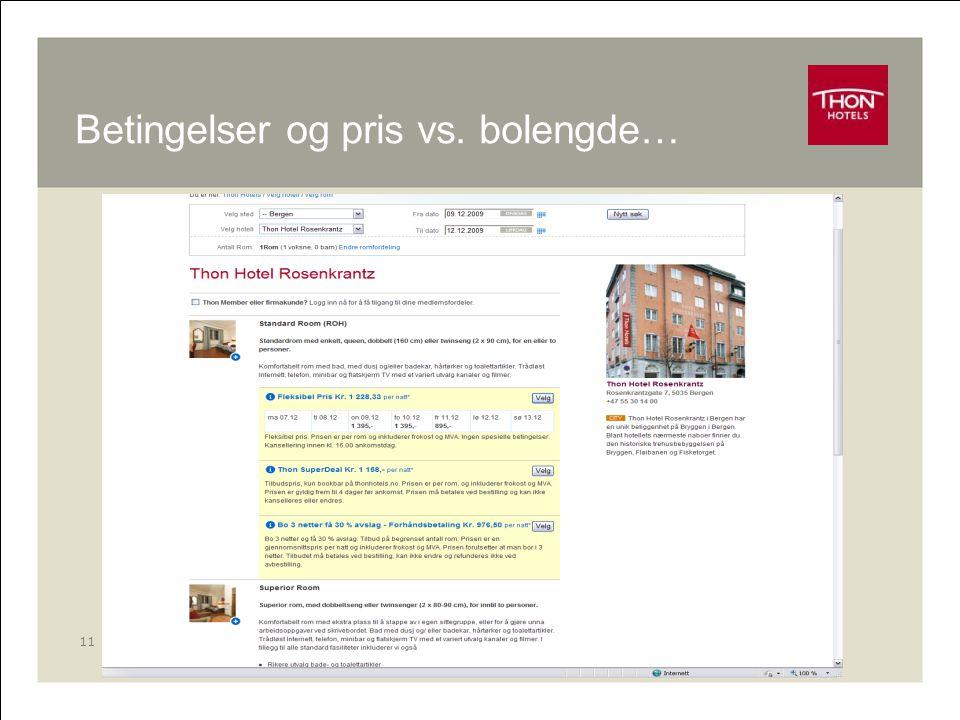 RM - Online 11 Betingelser og pris vs. bolengde…