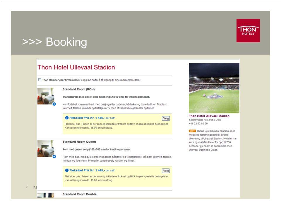RM - Online 8 >>> Hotellinformasjon