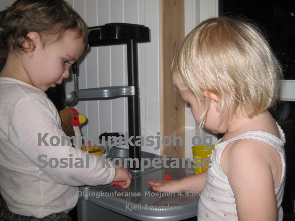 Mosjøen 4.mai 09 Kjell Amundsen 1 Kommunikasjon og Sosial kompetanse Dialogkonferanse Mosjøen 4.5.09 Kjell Amundsen