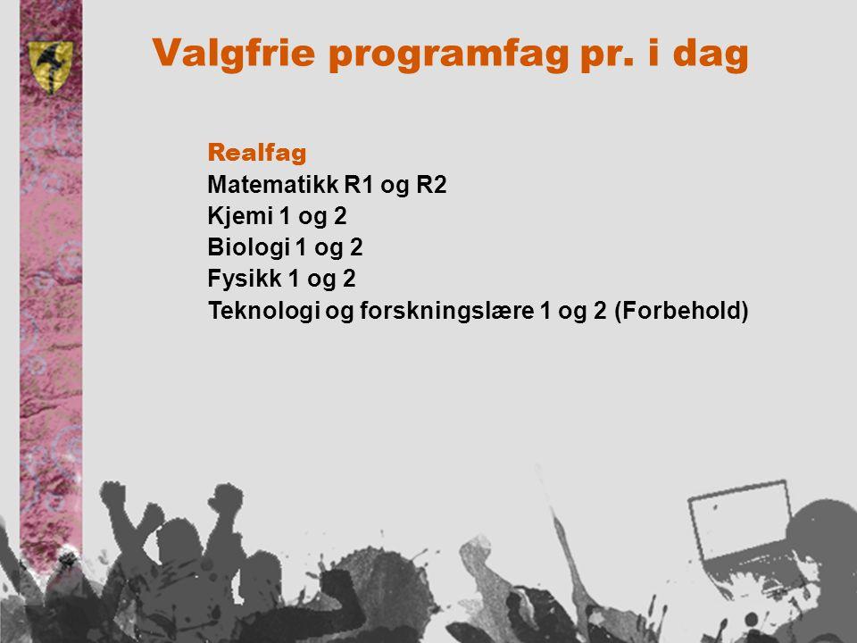 Valgfrie programfag pr.