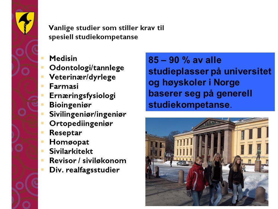 Studiespesialisering Fellesfag VG1  Norsk113  Matematikk (P/T)140  Naturfag140  Engelsk140  Fremmedspråk113  Samfunnsfag 84  Geografi 56  Kroppsøving 56