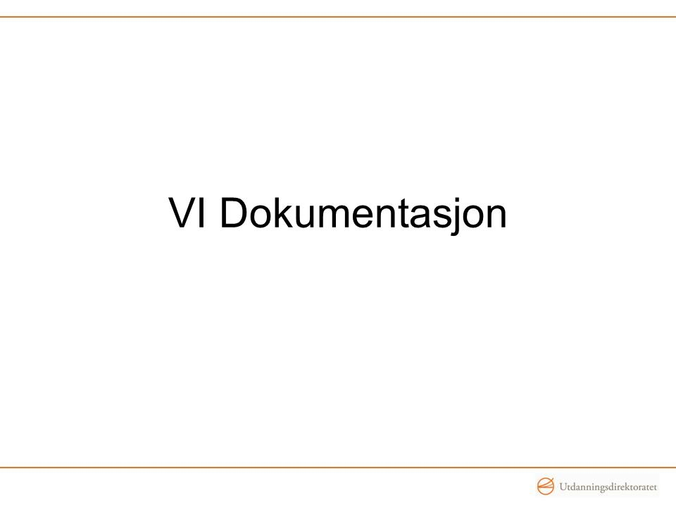 VI Dokumentasjon