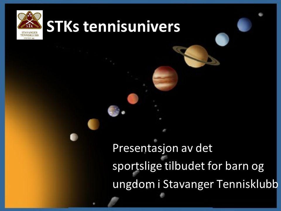 STKs tennisunivers Presentasjon av det sportslige tilbudet for barn og ungdom i Stavanger Tennisklubb