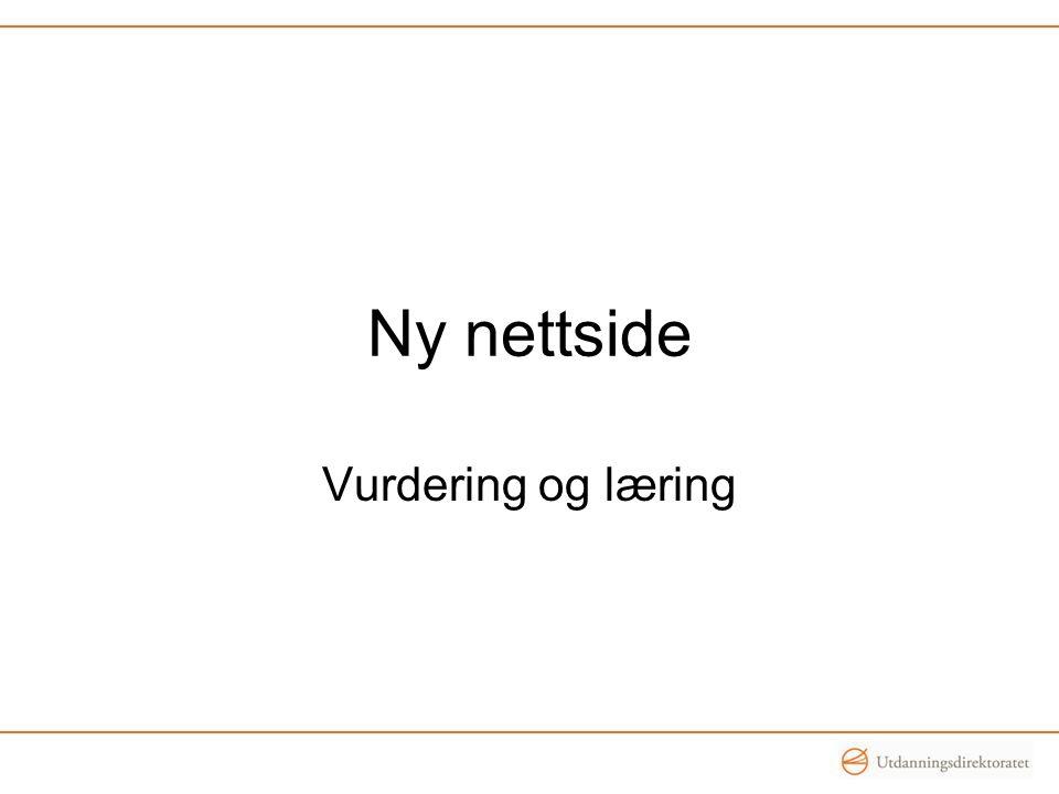 Ny nettside Vurdering og læring