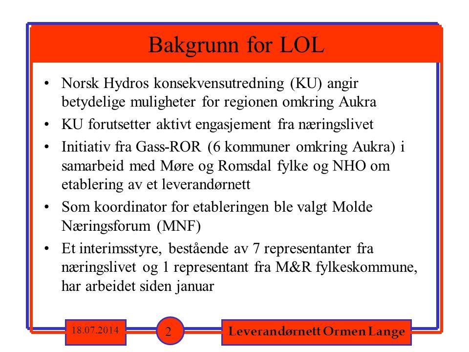 Norsk Hydros konsekvensutredning (KU) angir betydelige muligheter for regionen omkring Aukra KU forutsetter aktivt engasjement fra næringslivet Initia