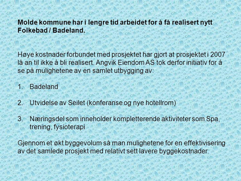 Molde kommune har i lengre tid arbeidet for å få realisert nytt Folkebad / Badeland. Høye kostnader forbundet med prosjektet har gjort at prosjektet i