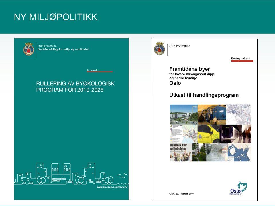BYØKOLOGISK PROGRAM 2010-2016 12540535092 Bevare og styrke Oslos blågrønne struktur Redusere luftforurensing, klimagassutslipp og støy Styrke omlegging til miljøeffektiv mobilitet og transport Sikre bærekraftig byutvikling med miljøvennlige bygningsmiljøer og byrom Fullføre kretsløpsbasert avfallssystem Fullføre innføringen av en miljøeffektiv kommuneforvaltning Samarbeide med innbyggerne, næringslivet og staten for et bedre Oslomiljø Bidra til, og samarbeide for, et bedre miljø regionalt, nasjonalt og globalt