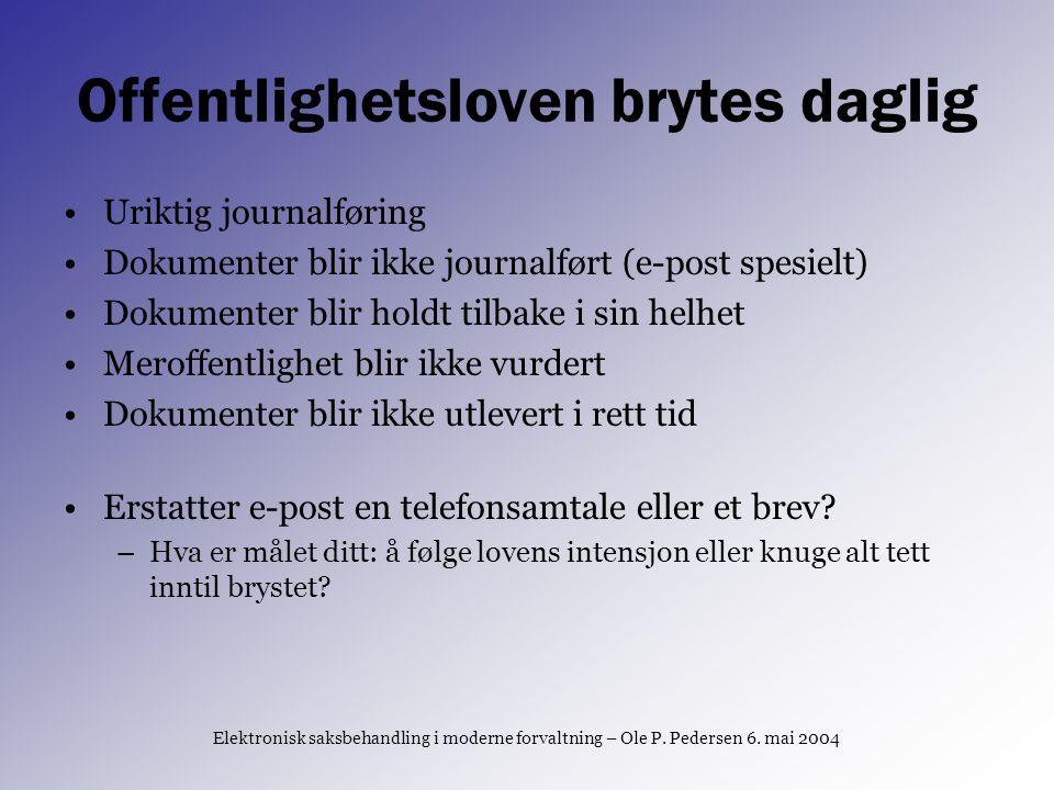 Postlister mangler Trondheim har enkel postliste (med bestillingsskjema) Oslo, Kristiansand og Bergen mangler postliste på nett Vanskelig å følge storbyene