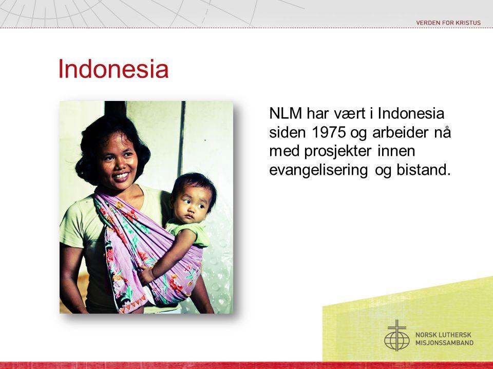 Indonesia NLM har vært i Indonesia siden 1975 og arbeider nå med prosjekter innen evangelisering og bistand.