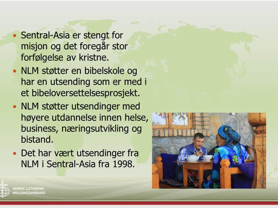 Sentral-Asia er stengt for misjon og det foregår stor forfølgelse av kristne. NLM støtter en bibelskole og har en utsending som er med i et bibelovers