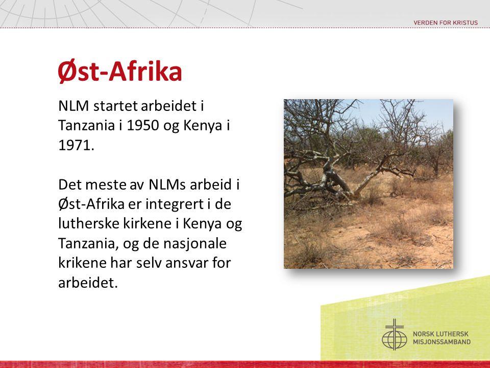 Øst-Afrika NLM startet arbeidet i Tanzania i 1950 og Kenya i 1971. Det meste av NLMs arbeid i Øst-Afrika er integrert i de lutherske kirkene i Kenya o