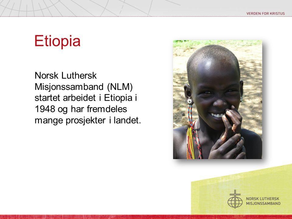 Etiopia Norsk Luthersk Misjonssamband (NLM) startet arbeidet i Etiopia i 1948 og har fremdeles mange prosjekter i landet.