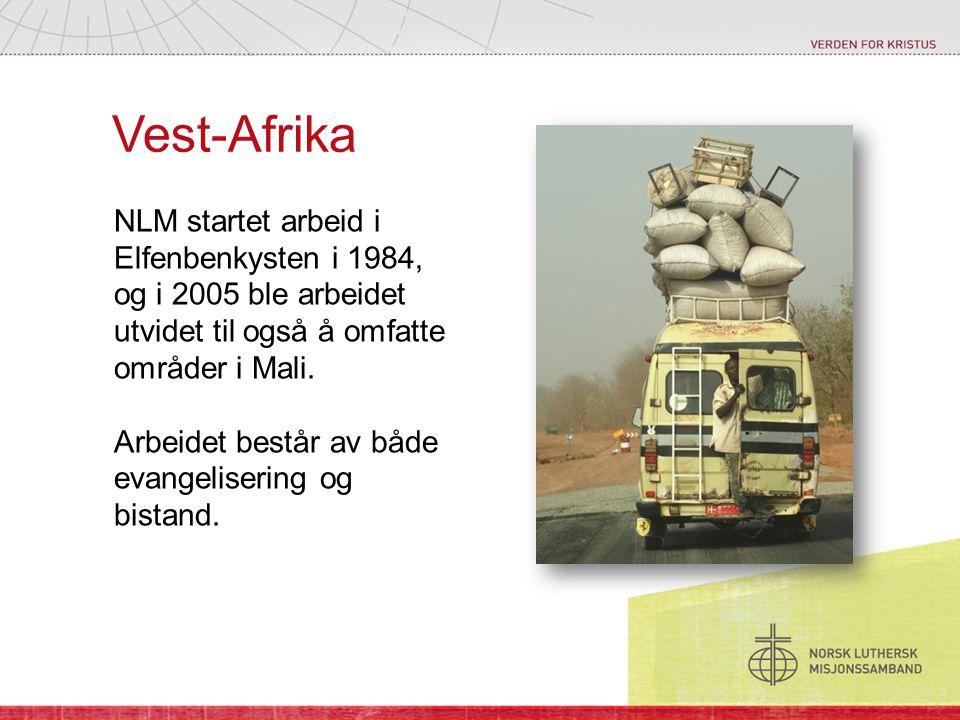 Vest-Afrika NLM startet arbeid i Elfenbenkysten i 1984, og i 2005 ble arbeidet utvidet til også å omfatte områder i Mali. Arbeidet består av både evan