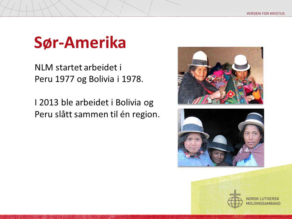 Sør-Amerika NLM startet arbeidet i Peru 1977 og Bolivia i 1978. I 2013 ble arbeidet i Bolivia og Peru slått sammen til én region.