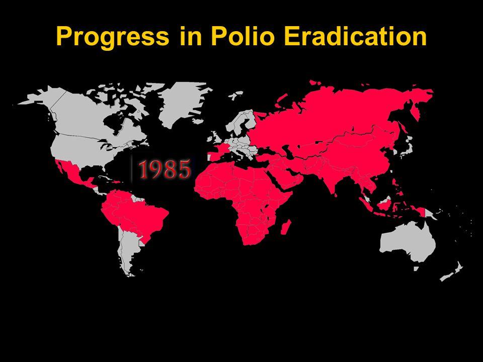 PETS 15 Nye bidrag til utryddelsen Bill & Melinda Gates Foundation Challenge Grant: 100 mill USD Vilkår: Rotary må selv skaffe 100 mill USD ekstra over 3 år