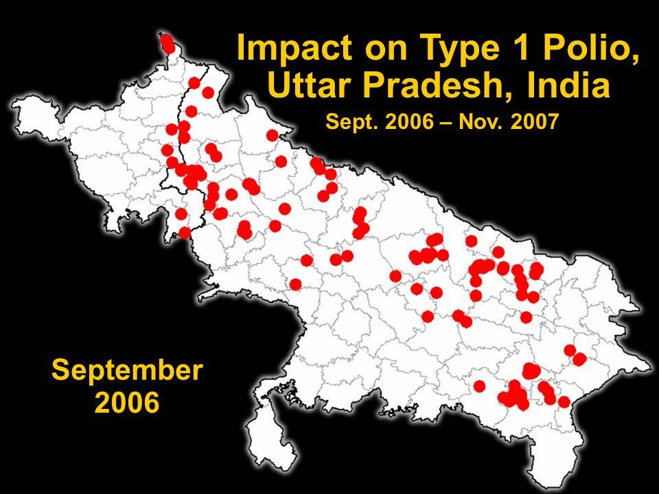 PETS 18 Impact on Type 1 Polio, Uttar Pradesh, India Sept. 2006 – Nov. 2007 September 2006