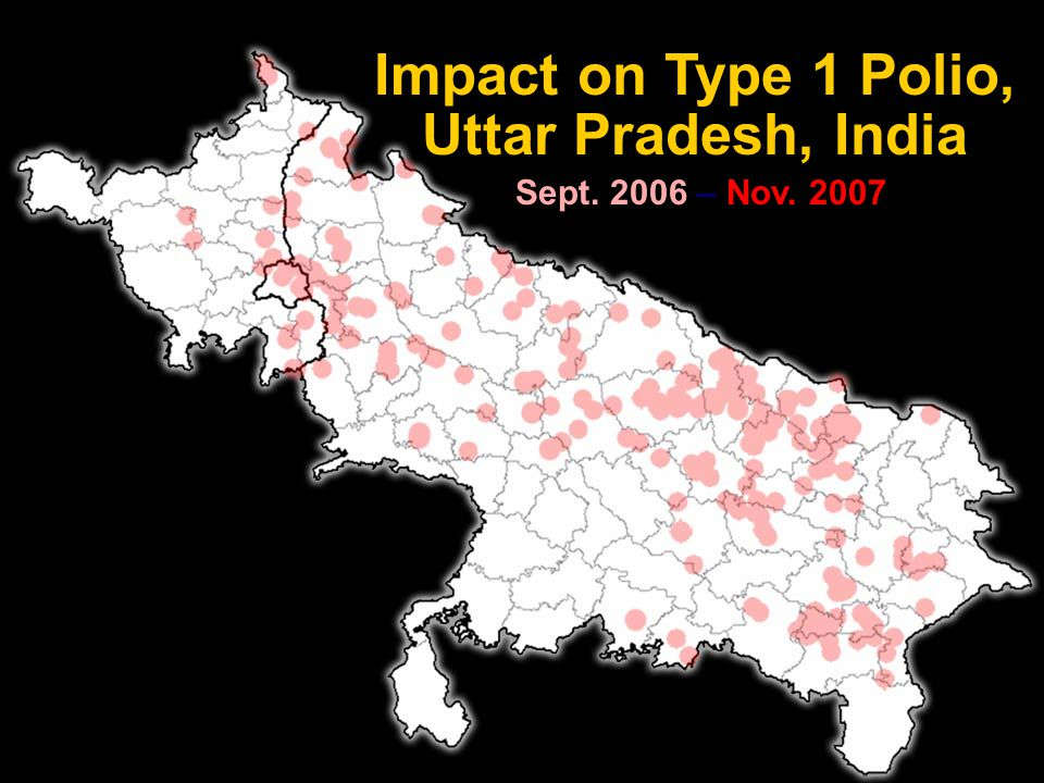 PETS 32 Impact on Type 1 Polio, Uttar Pradesh, India Sept. 2006 – Nov. 2007 November 2007
