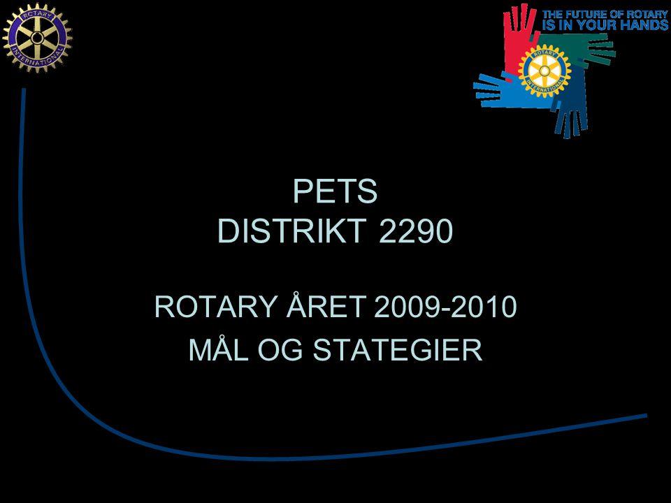 PETS DISTRIKT 2290 ROTARY ÅRET 2009-2010 MÅL OG STATEGIER