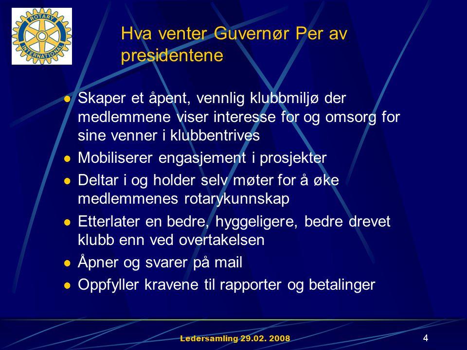 Ledersamling 29.02. 2008 3 1. Opprettholde og øke medlemsmassen 2.