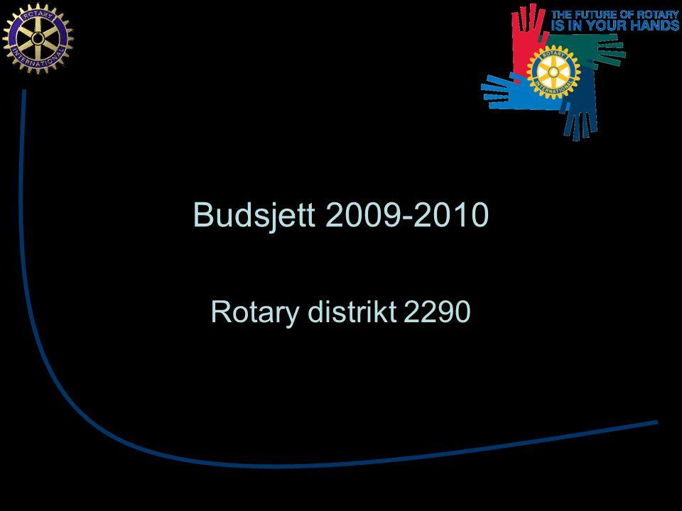Budsjett 2009-2010 Rotary distrikt 2290