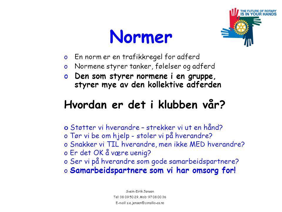 Svein-Eirik Jensen Tel: 38 09 50 29, Mob: 97 08 00 36 E-mail: s.e.jensen@consilio-as.no Hva er så Rotarys etiske grunnlag?