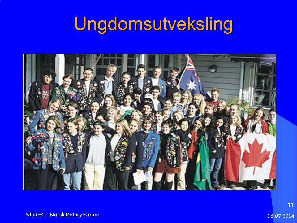 Ungdomsutveksling 18.07.2014 NORFO - Norsk Rotary Forum 11