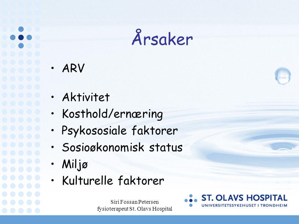 Siri Fossan Petersen fysioterapeut St.Olavs Hospital Hvem skal tilbys behandling.
