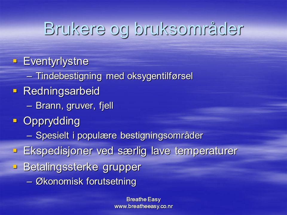 Breathe Easy www.breatheeasy.co.nr Utfordringer  Teoretisk konsept  Testing av utstyr  Kostnader  Valg av sikkerhetsnivå