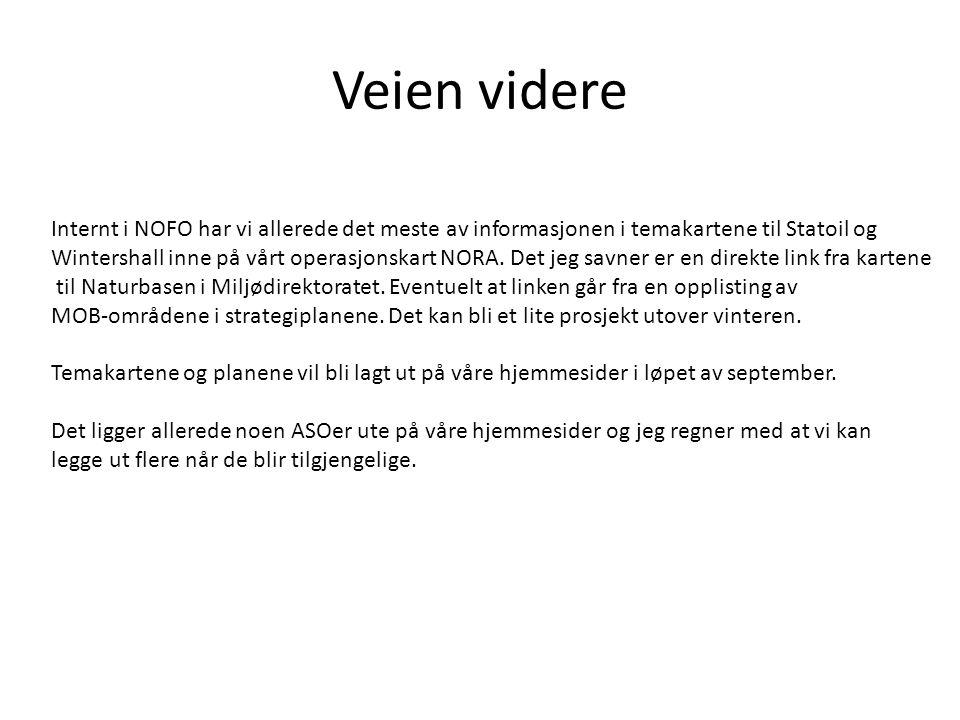 Veien videre Internt i NOFO har vi allerede det meste av informasjonen i temakartene til Statoil og Wintershall inne på vårt operasjonskart NORA. Det