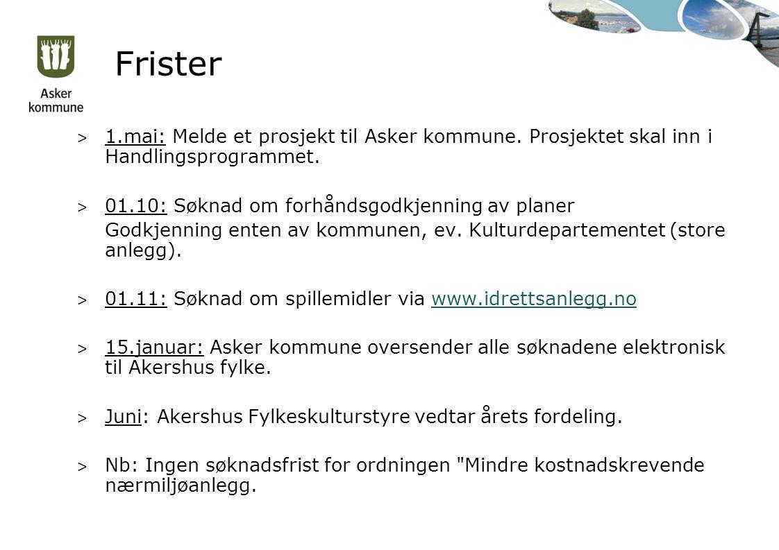 Frister > 1.mai: Melde et prosjekt til Asker kommune.