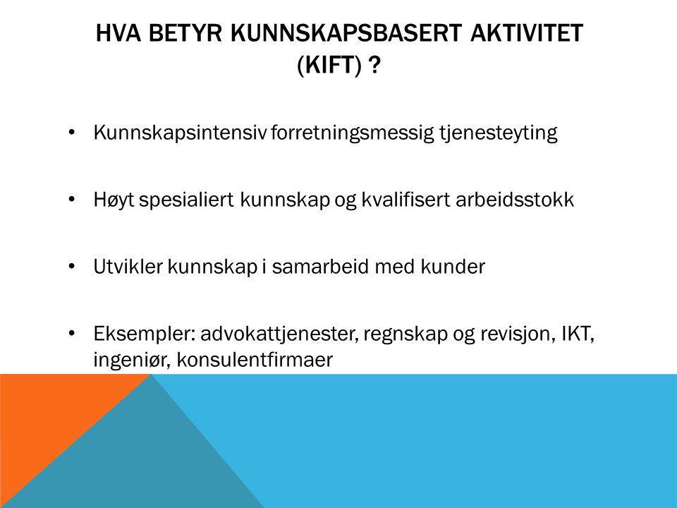 HVA BETYR KUNNSKAPSBASERT AKTIVITET (KIFT) .