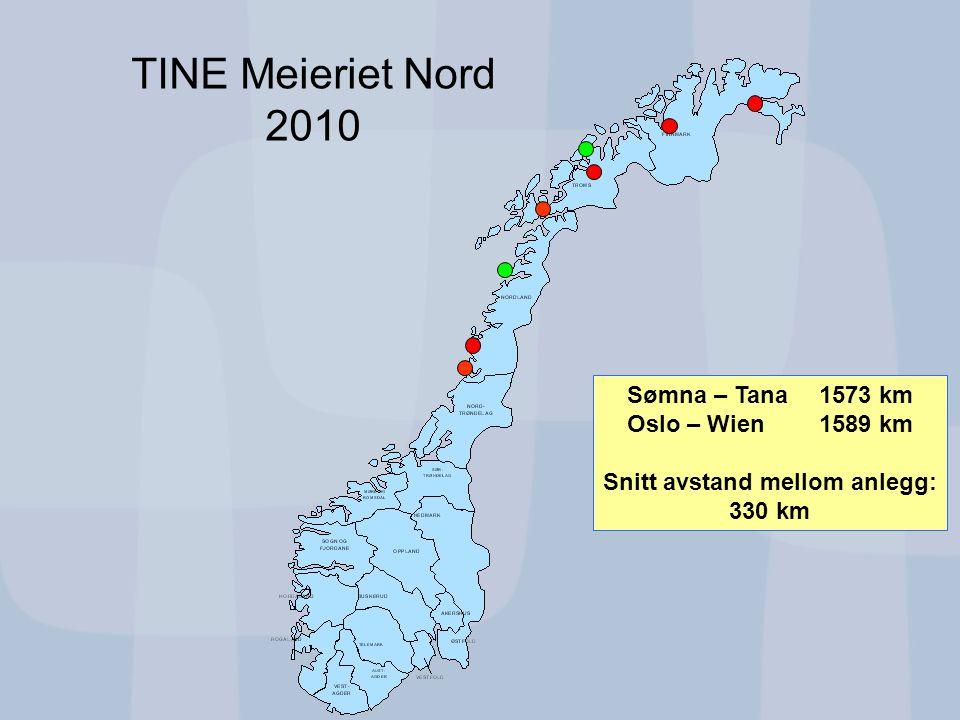 12 TINE Meieriet Nord 2010 Totalt sykefravær i TINE 2006-2009 Seniorer